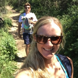 family hiking in montecito