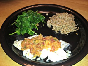 Cod with pineapple salsa