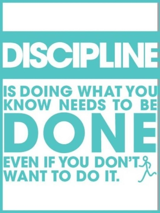 Wordless Wednesday: Do You Have Discipline?