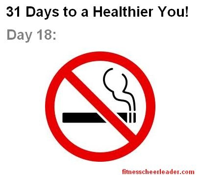 You Healthiest Year Ever, Day 18: Butt Out