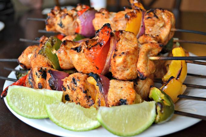 Chili-Lime Chicken Kabobs + Laura's Wine Tasting Bridal Shower