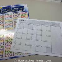 Healthy eating motivation - reward yourself for making good choices with stickers.