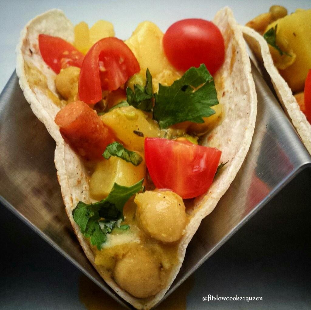 Slow Cooker Spicy Sweet Potato Curry (vegan) - Fit SlowCooker Queen