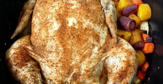 5-Ingredient Slow Cooker Whole Chicken Paleo Pot