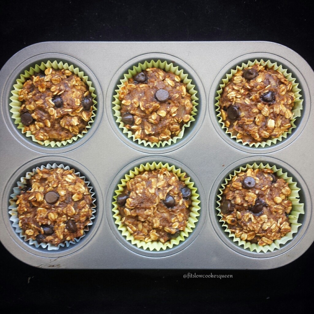 Chocolate Chip Banana-Oat Muffins