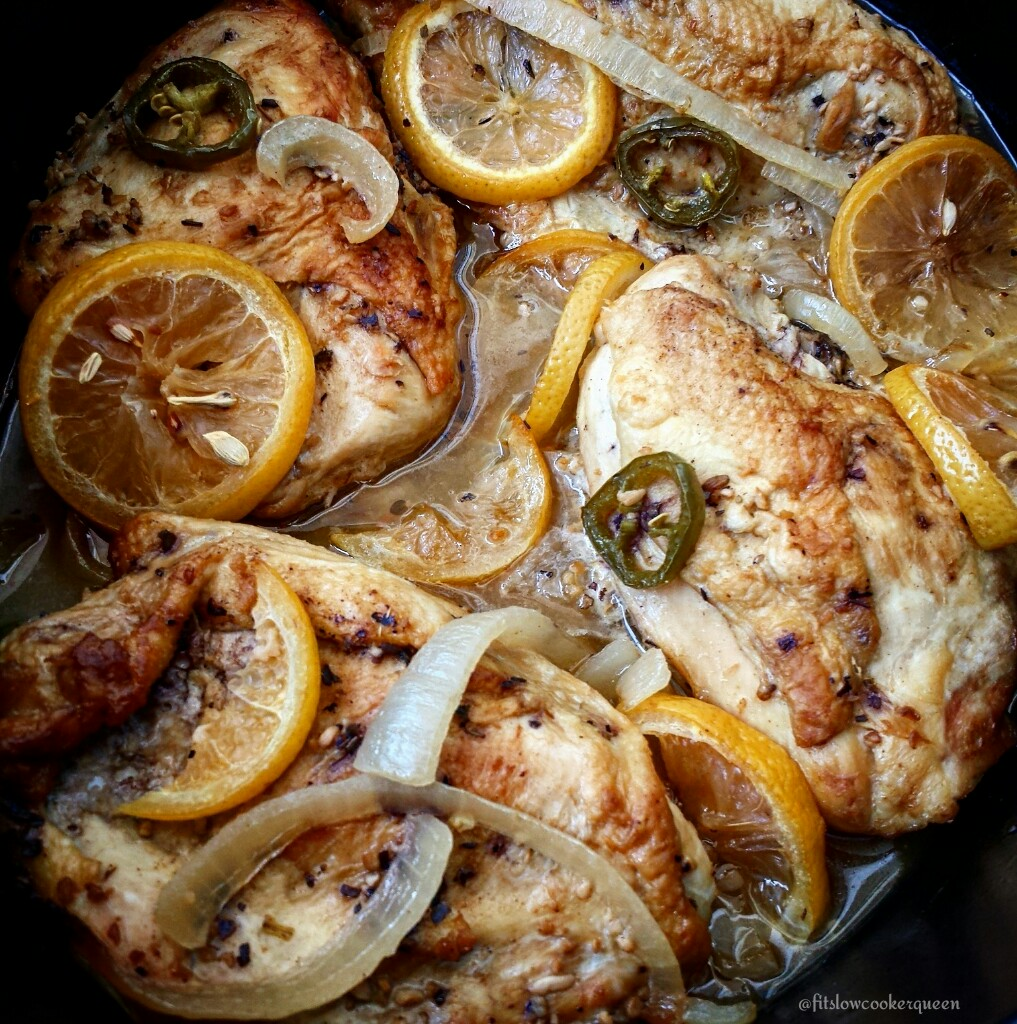 Slow Cooker Garlic Citrus Chicken - Fit SlowCooker Queen