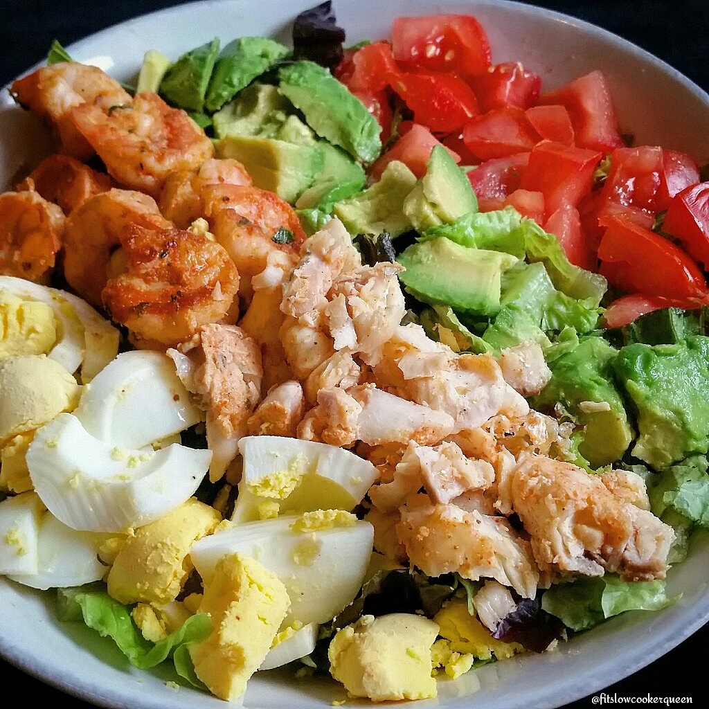Grilled Fish and Shrimp Salad