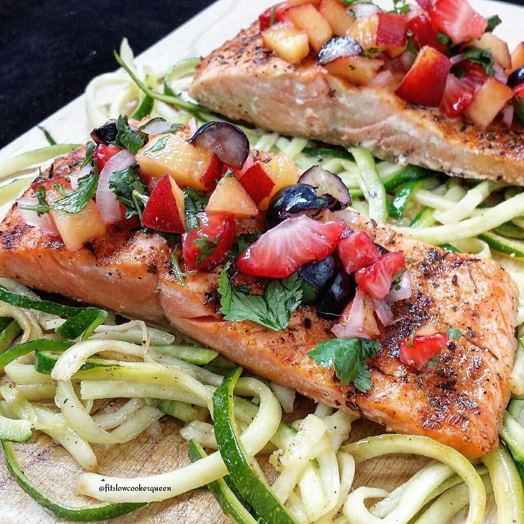Salmon w/Fruit Salsa