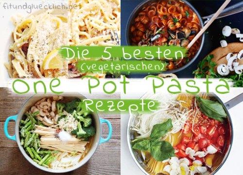 one pot pasta, vegetarisch, rezept