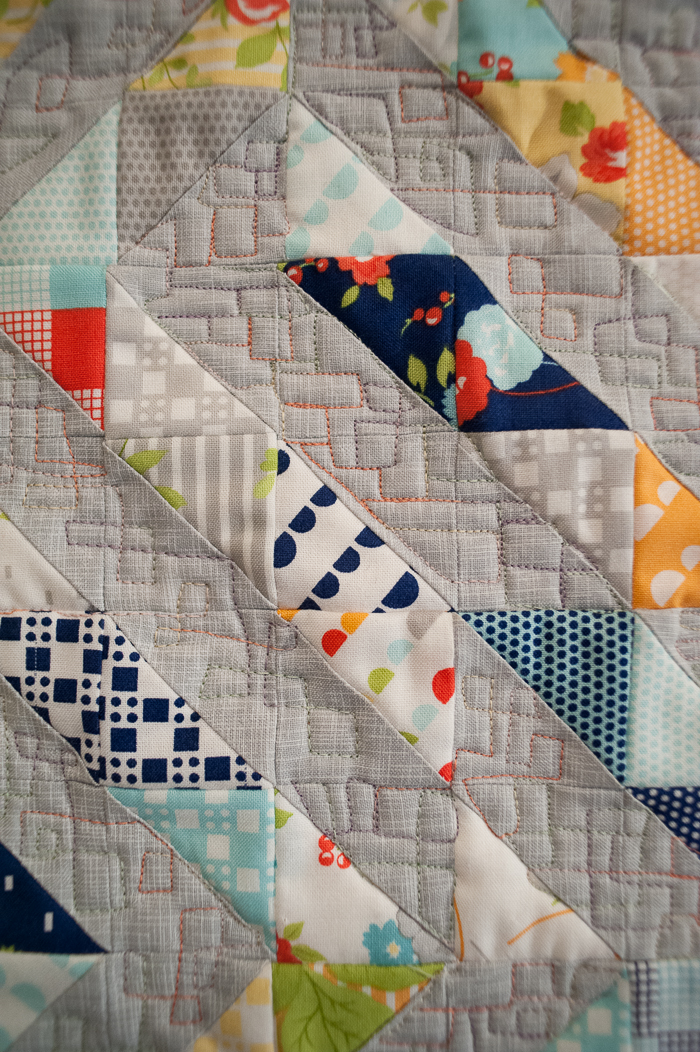 Quilting Detail Ziggy Mini