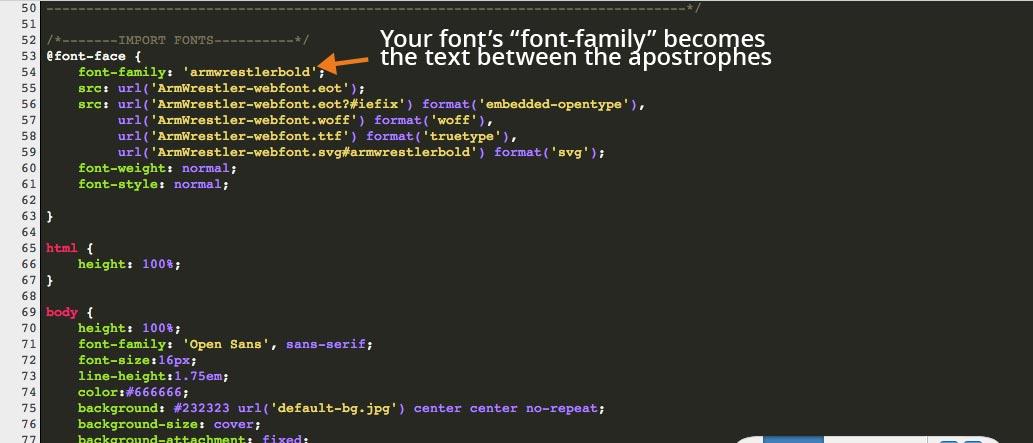 @font-face Font-Family