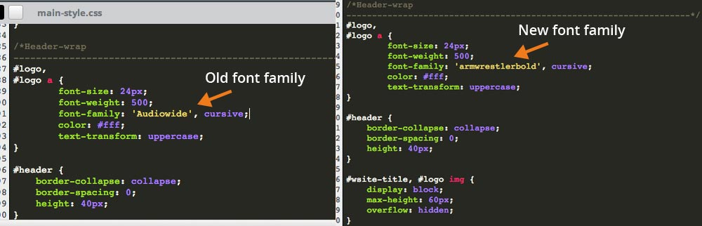 Replace Your Old Font With Your New Font-Family