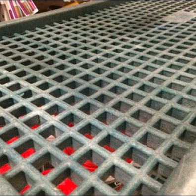 Plastic Grid Shelf Tansport Cart 2