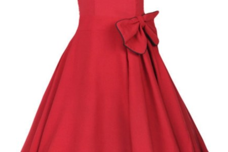 lindy bop grace cly red vintage 1950s evening party dress