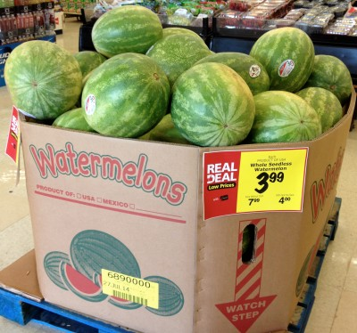 watermelon store display