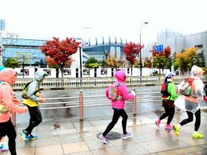 138東京マラソン雨
