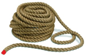 Red rope = life on earth. Rest of rope = eternity. (If a four minute YouTube clip was too long for you...)