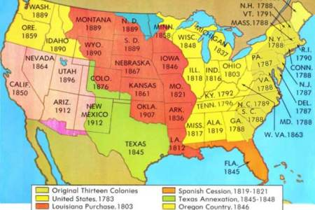 Map Of Territorial Expansion - Map of us 1845