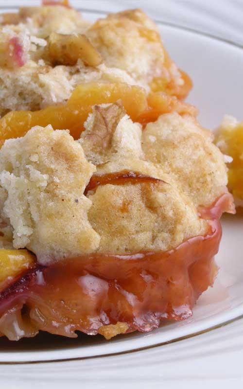 1-2-3 Peach Cobbler
