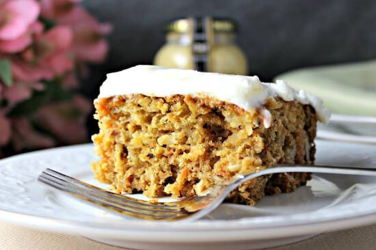Paleo Carrot Cake with Maille Old Style Mustard