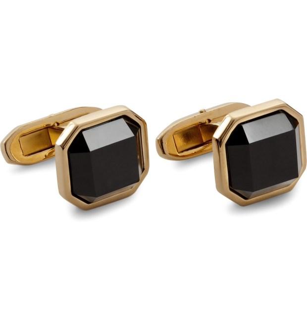 Dolce & Gabbana Gold-Plated Onyx Cufflinks