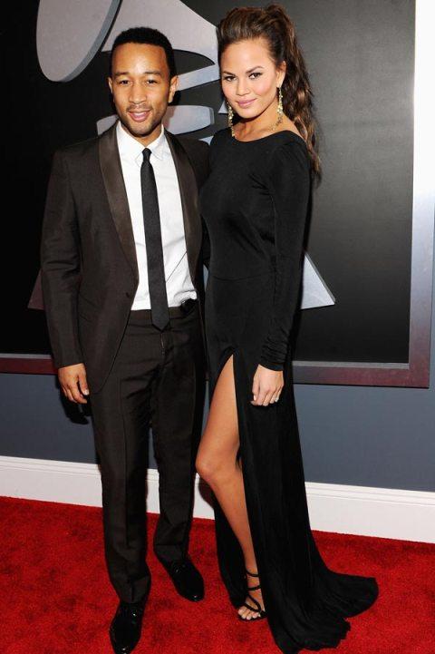 John Legend Grammys 2012 Red Carpet