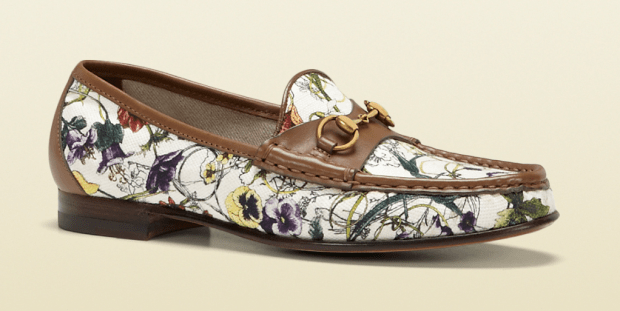 Gucci Anniversary Horsebit Loafer In Mini Flora Infinity Canvas