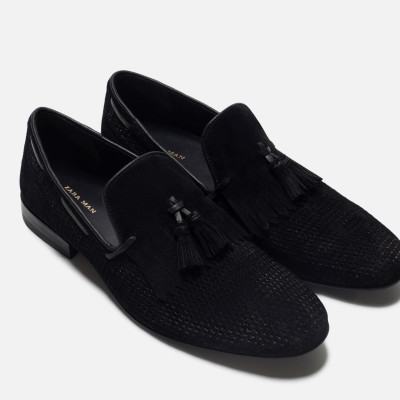 Zara Leather Loafer With Fringe Detail 5