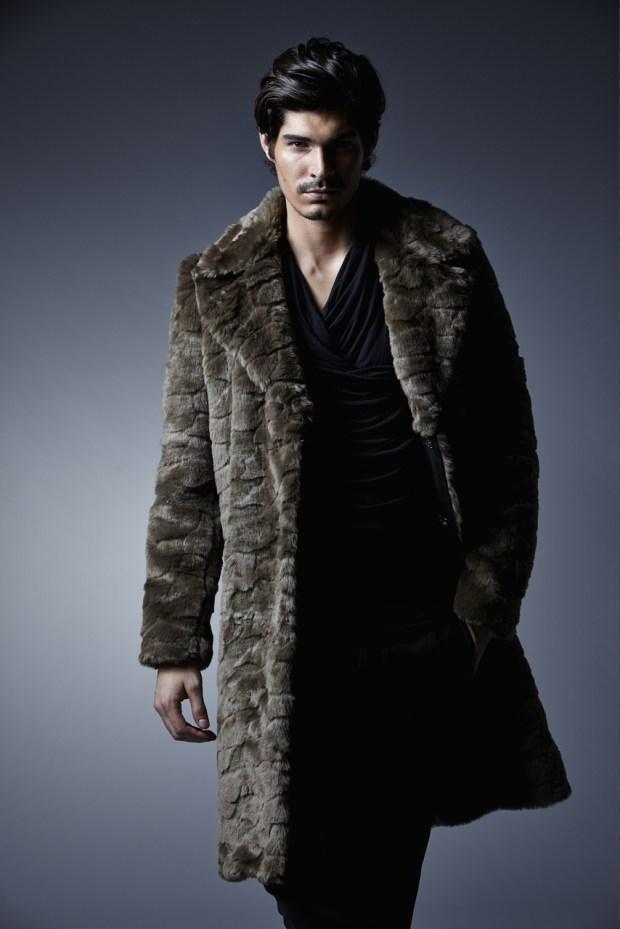 Charly Calder Men's Rome Faux Fur Coat 2