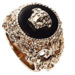 Men's Versace Round Barocco Ring