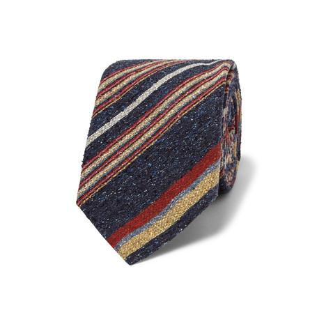 Turnbull & Asser Striped Slub Silk Tie