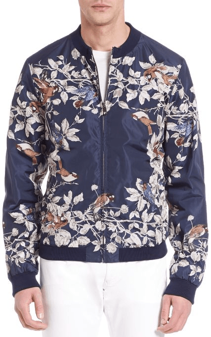 Dolce & Gabbana Embroidered Nylon Bomber