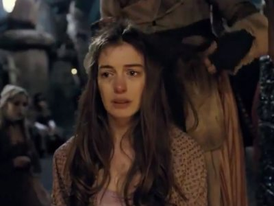 Anne Hathaway as Fantine gets an excruciating haircut in Les Miserables (2012)
