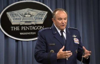 Gen. Philip M. Breedlove provides a U.S. European Command update during a news conference June 30, 2014, at the Pentagon. (Courtesy photo/Glenn Fawcett).