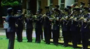 A still from CNN's Doomsday video, starring all four service's military bands.