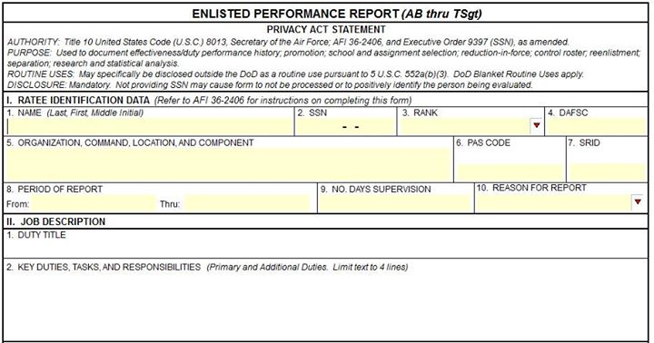 a peek at the new epr form?