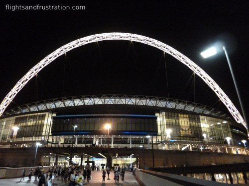 The iconic arch over Wembley Stadium