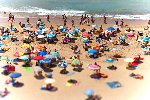 Tiltshift Beach in Benidorm
