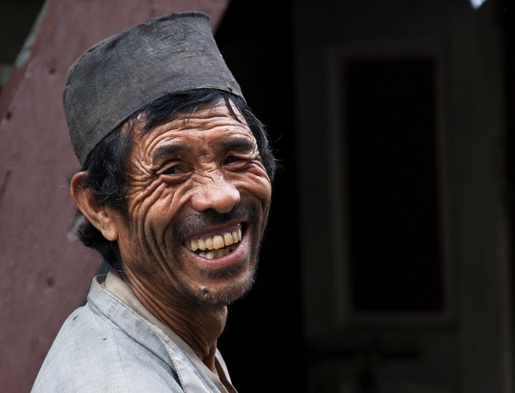 inspite of all hardships this tibetan smiling from his heart