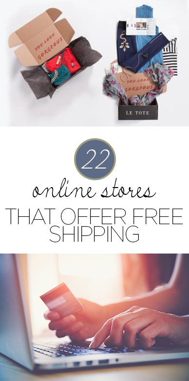 Online shopping, online shopping hacks, save money, save money shopping, popular pin, stores with free shipping, free shipping hacks.