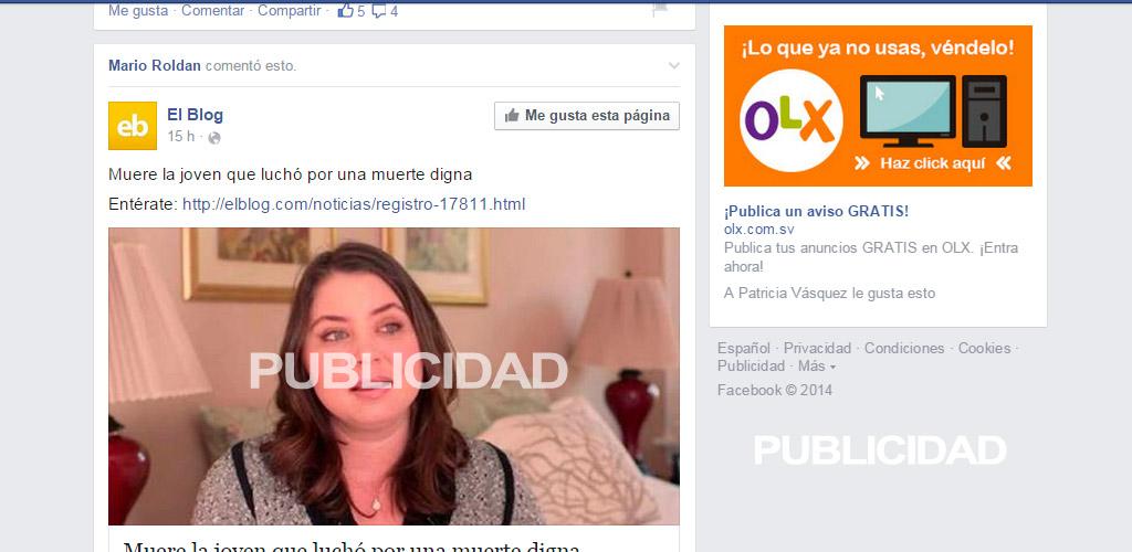 honduras publicidad facebook
