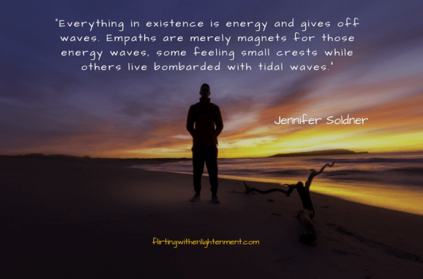 empath, sighs you are an empath, beach, sunset, podcast, flirtingwithenlightenment