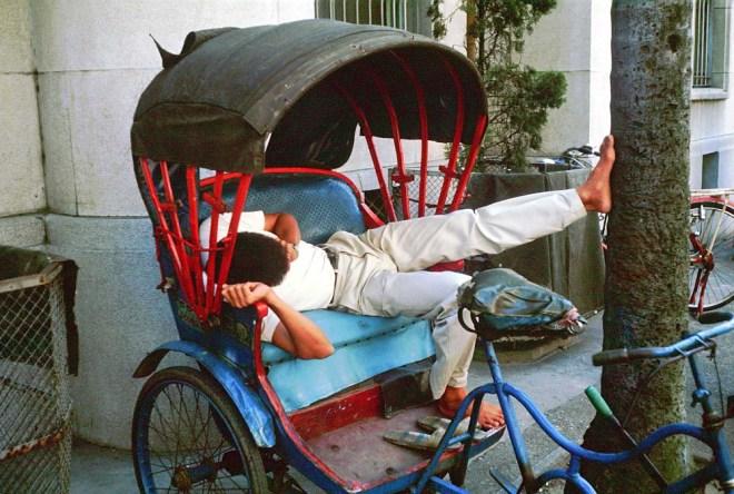 台中 當時的計程車三輪車伕