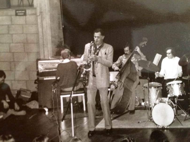 Dexter Gordon and his 'working band' in Enschede, The Netherlands