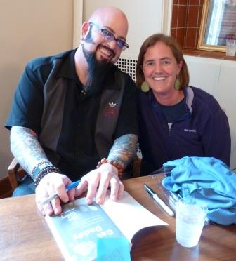 Jackson Galaxy Signing Books for Cat Daddy Giveaway