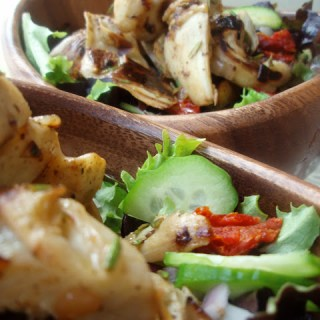 Sauteed Artichoke Greek Salad