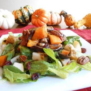 Mapled Squash & Sauteed Mushroom Fall Salad