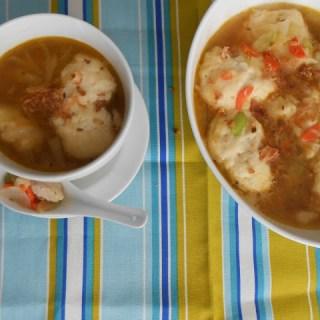 Dumpling Soup w/ Beyond Meat