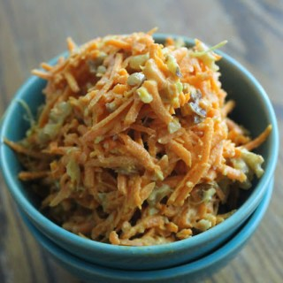 Sweet Curried Carrot Slaw