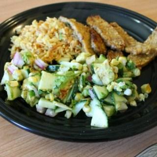 Cucumber, Corn and Avocado Salad